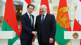 Себастьян Курц и Александр Лукашенко. Фото из архива