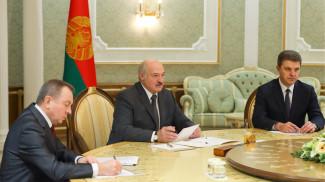 Александр Лукашенко во время встречи