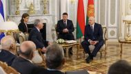 Президент Кубы Мигель Марио Диас-Канель Бермудес и Президент Беларуси Александр Лукашенко