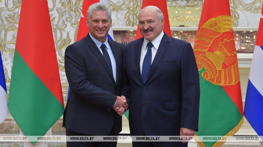 Мигель Марио Диас-Канель Бермудес и Александр Лукашенко