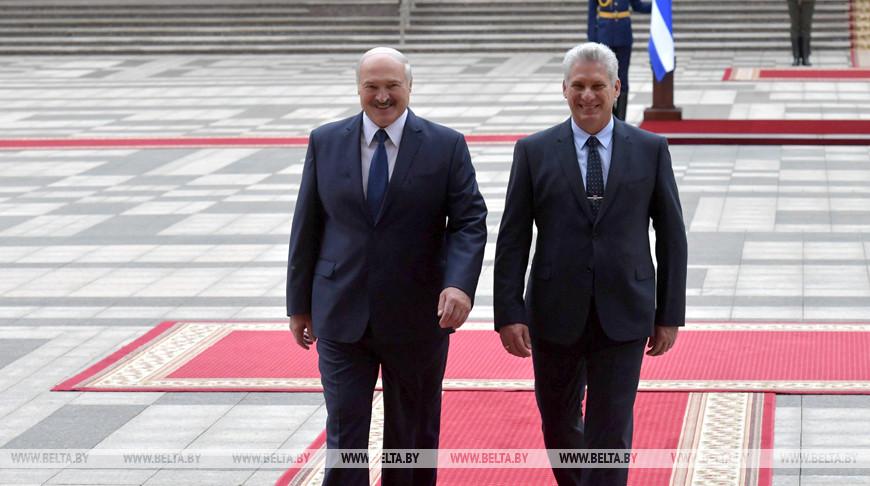Александр Лукашенко и Мигель Марио Диас-Канель Бермудес