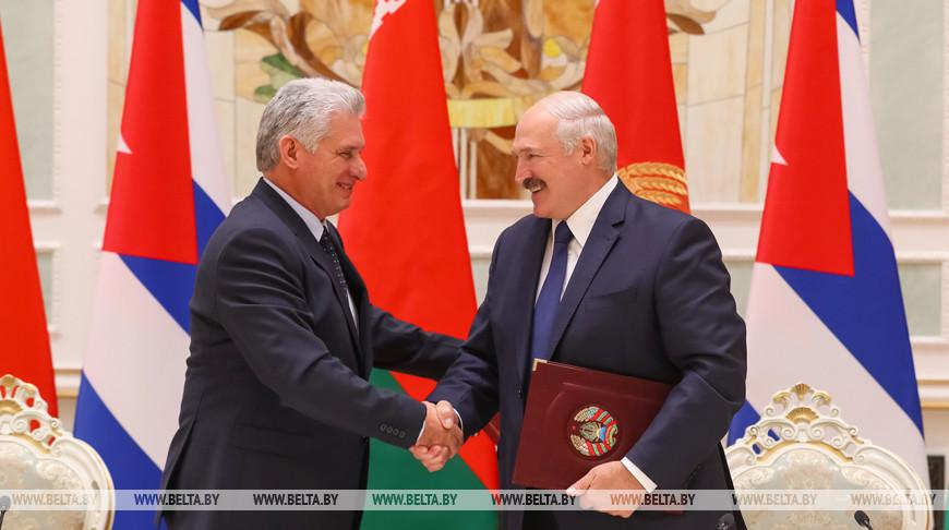 Александр Лукашенко и Марио Диас-Канель Бермудес