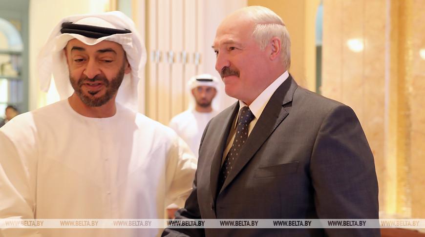 Мухаммед бен Заид аль-Нахайян и Александр Лукашенко