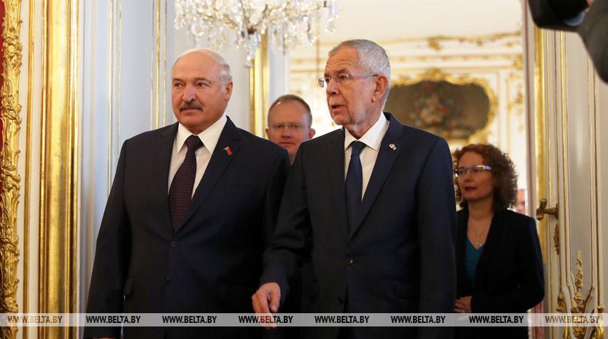 Встреча Александра Лукашенко и Александра Ван дер Беллена проходит в Вене