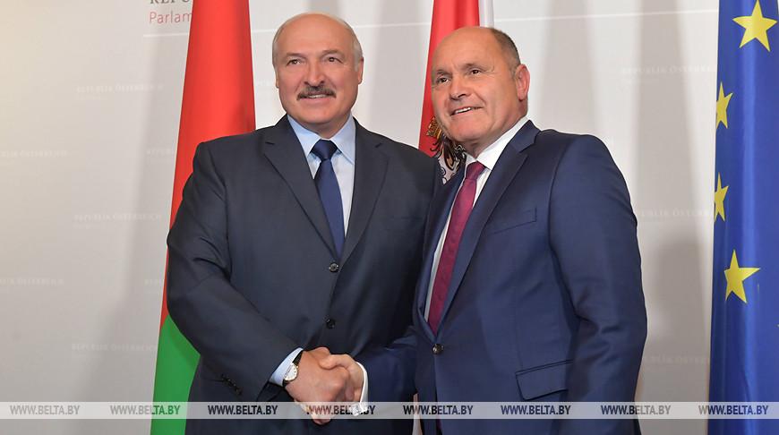 Александр Лукашенко и Вольфганг Соботка