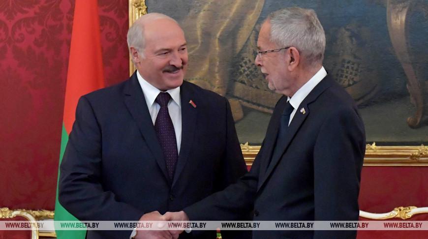Лукашенко поблагодарил австрийских лидеров за прием белорусской делегации в Вене