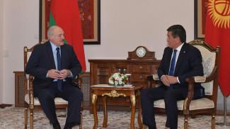 Александр Лукашенко и Сооронбай Жээнбеков