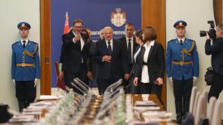Александр Вучич и Александр Лукашенко