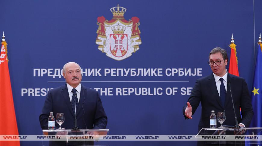 Александр Лукашенко и Александр Вучич