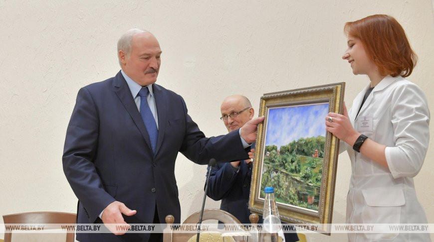 Александр Лукашенко и Юлия Голубчик