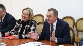 Владимир Макей во время переговоров