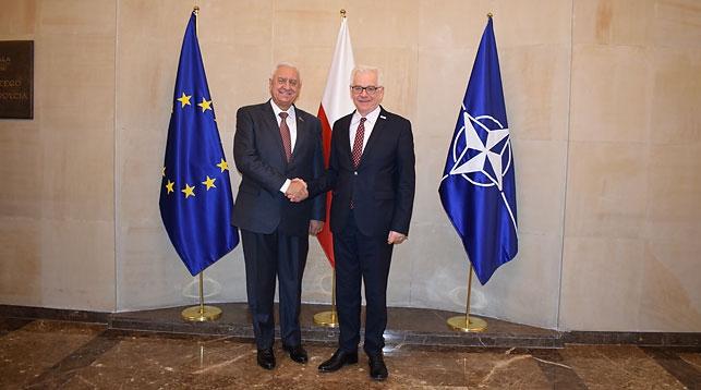 Михаил Мясникович и Яцек Чапутович. Фото Совета Республики