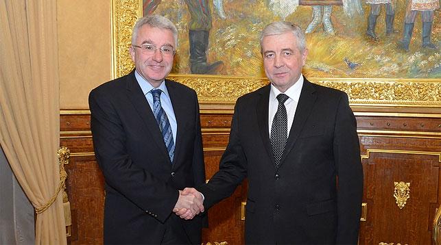 Томислав Цар и Владимир Семашко. Фото посольства Беларуси в России