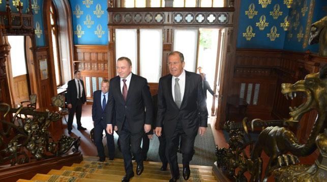 Владимир Макей и Сергей Лавров. Фото посольства Беларуси в России