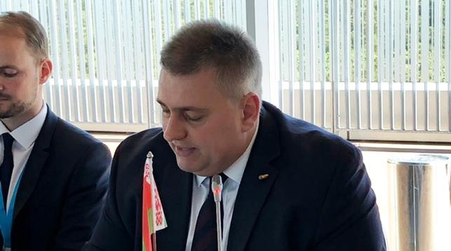 Олег Кравченко во время совещания. Фото из Instagram-аккаунта CBSS Secretariat