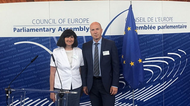 Елена Анисим и Дмитрий Шевцов. Фото Палаты представителей