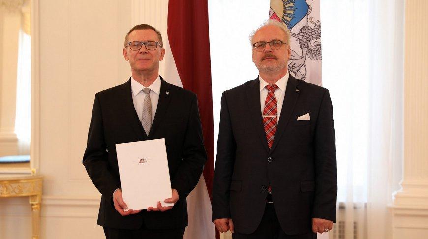 Эйнарс Семанис и Эгилс Левитс. Фото из twitter-аккаунта Министерство иностранных дел Латвии