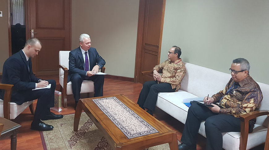 Во время встречи. Фото посольства Беларуси в Индонезии