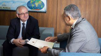 Павел Пустовой и Зураб Пололикашвили. Фото Секретариата ЮНВТО