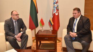 Валерий Барановский и Линас Линкявичюс. Фото посольства Беларуси в Литве