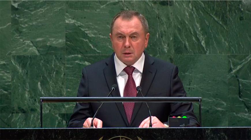 Владимир Макей. Скриншот из видео ООН