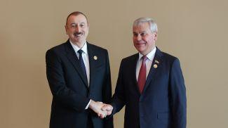 Ильхам Алиев и Владимир Андрейченко. Фото посольства Беларуси в Азербайджане