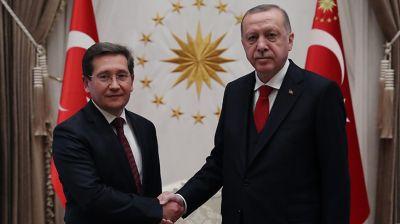Виктор Рыбак и Реджеп Тайип Эрдоган. Фото посольства Беларуси в Турции