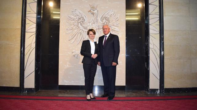 Ядвига Эмилевич и Михаил Мясникович. Фото посольства Беларуси в Польше