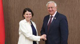 Фиона Гибб и Михаил Мясникович