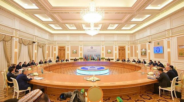 Во время заседания Совета. Фото СНГ
