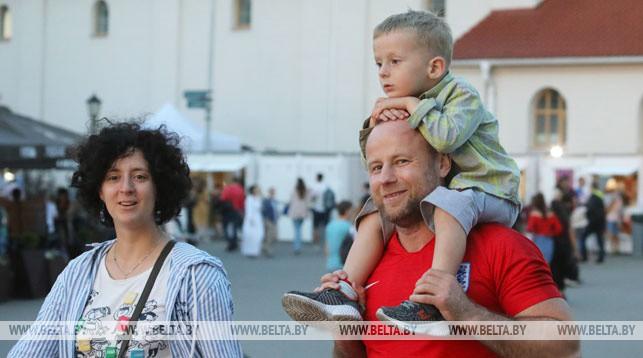 На улицах Минска во время II Европейских игр