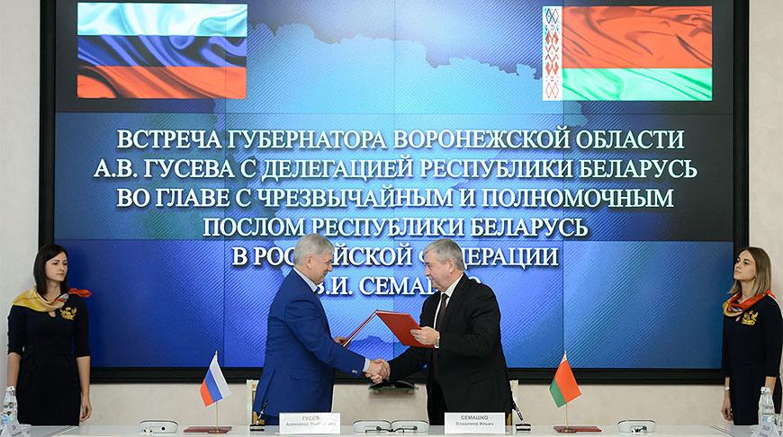Александр Гусев и Владимир Семашко. Фото посольства Беларуси в России