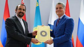 Мехди Санаи и Тигран Саркисян. Фото ЕЭК