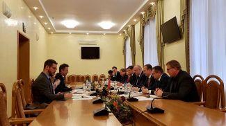 Во время встречи. Фото Минсельхозпрода