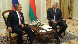 Рустам Минниханов и Сергей Румас
