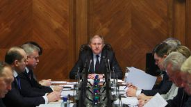 Во время заседания. Фото пресс-службы правительства - БЕЛТА