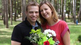 Миньвидас Думчай с женой Живиле из Литвы