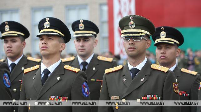 Выпускники Военной академии Беларуси. Фото из архива