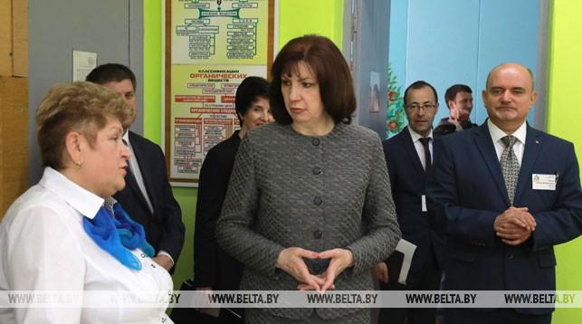 Наталья Кочанова во время рабочей поездки