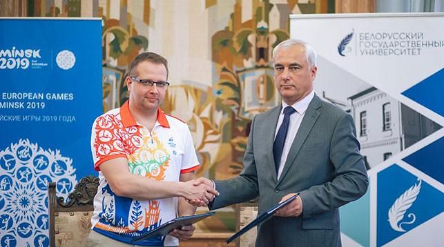 Анатолий Котов и Иван Янушевич. Фото официального сайта европейских игр