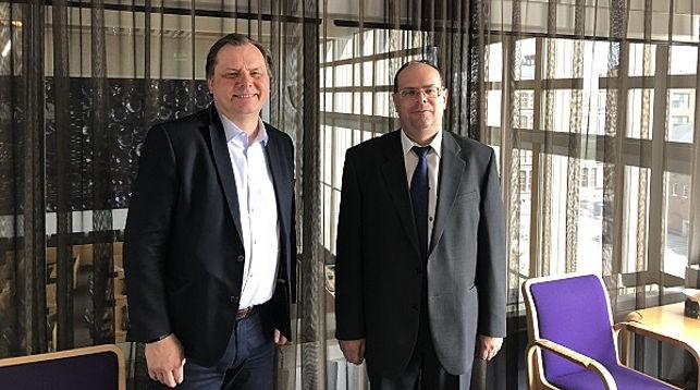 Теппо Рантанен и Алексей Самосуев. Фото посольства Беларуси в Финляндии