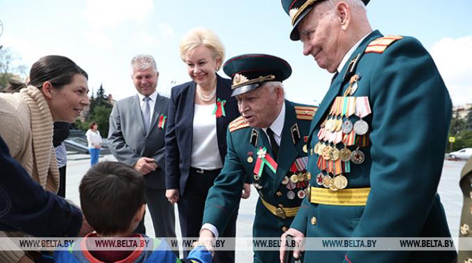 Ирина Костевич и ветераны