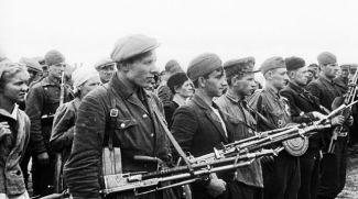 Партизанский парад в Минске. 1944 год