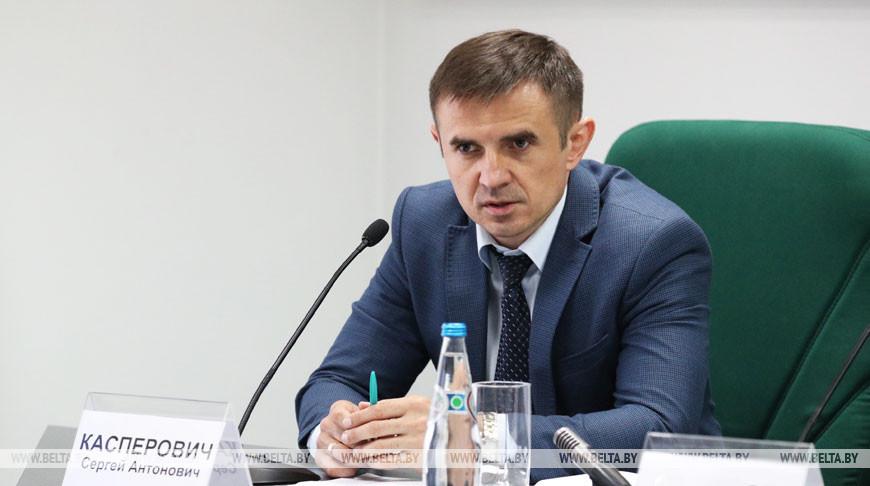 Сергей Касперович во время пресс-конференции