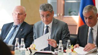 Председатель Коллегии ЕЭК Тигран Саркисян во время заседания. Фото ЕЭК