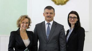 Алоизия Вергеттер (слева) и Сергей Ковальчук. Фото Минспорта