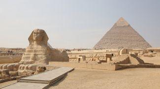 Комплекс пирамид в Гизе. Фото из архива