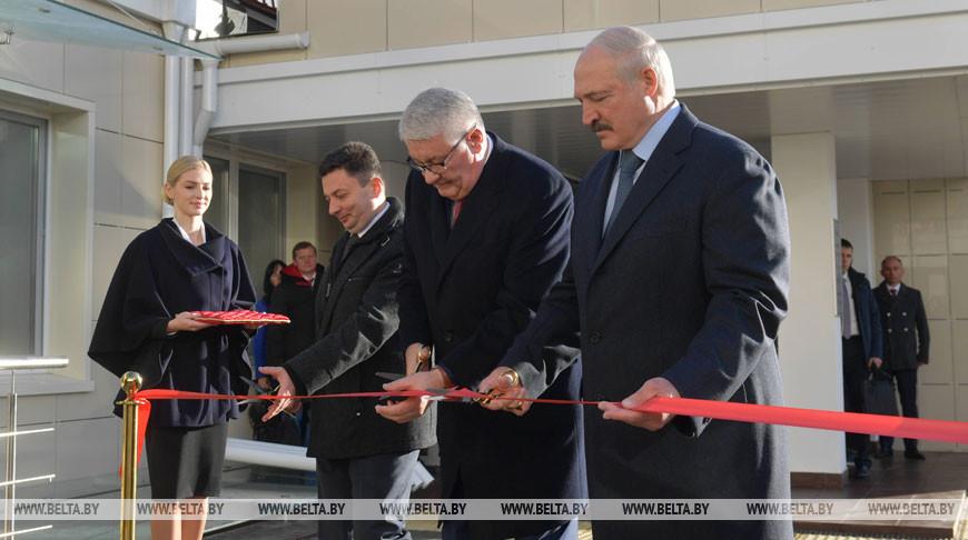Во время открытия пансионата в РНПЦ онкологии и медицинской радиологии имени Н.Н. Александрова