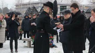 Дмитрий Мирончик во время церемонии. Фото предоставлено посольством Беларуси
