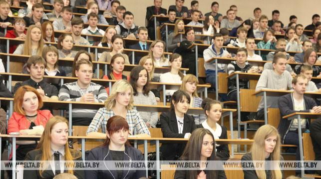 В университете. Фото из архива